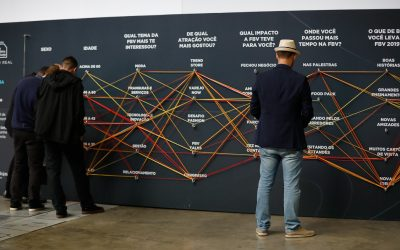 Data Wall: pesquisa na 7ª edição da FBV cria gráfico de linhas em tempo real